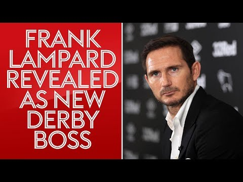 Frank Lampard's first press conference as Derby manager