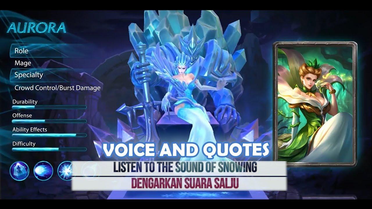inilah arti dari kata kata yang diucapkan Aurora di game Mobile Legends   YouTube