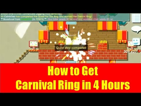 GrowTopia #3 - How to Get Carnival Ring in 4 Hours