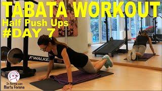 Allenamento tabata - half push ups #day7
