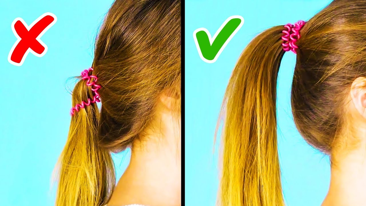 cool 1-minute hairstyle hacks