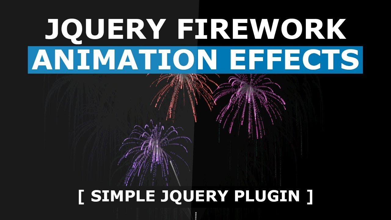 jQuery firework animation effects using fireworks js - Simple jQuery Plugin