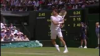 Grigor Dimitrov smashes 103mph forehand - Wimbledon 2014