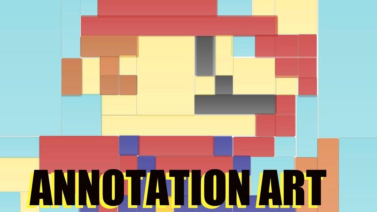 YOUTUBE ANNOTATION ART: 8-Bit Super Mario