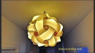 Cómo hacer una Lampara Colgante de Papel, Origami Art.