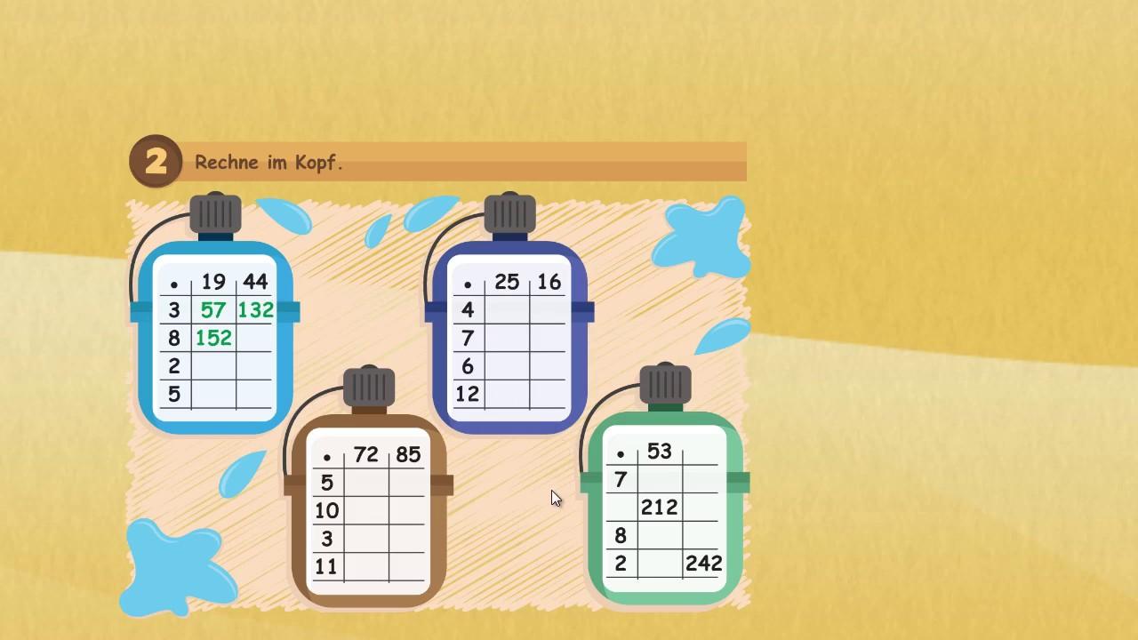 halbschriftliches multiplizieren bis 1000 multiplikation