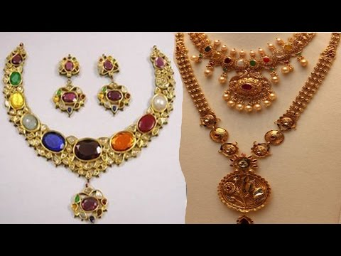 Indian Latest Traditional Navaratna Necklace Jewellery Designs YT Fashion Week