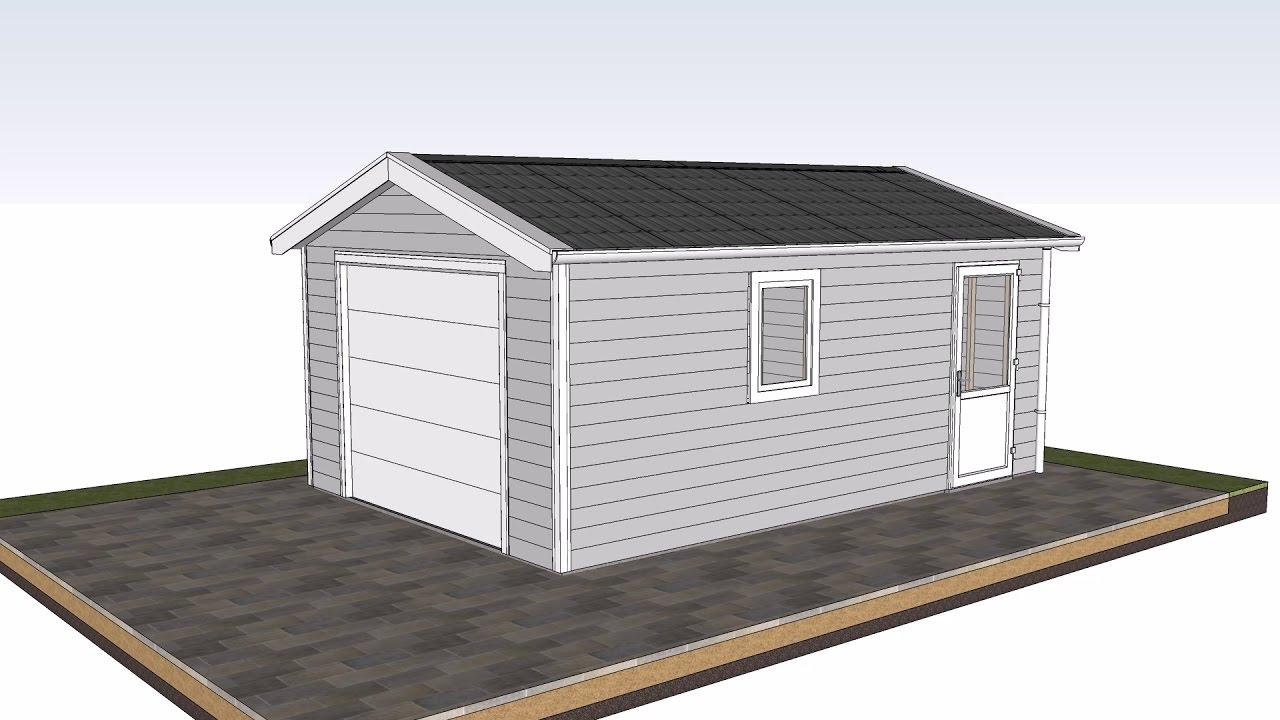 romahaus aufbau kunststoff garage carport in nur wenigen stunden youtube. Black Bedroom Furniture Sets. Home Design Ideas