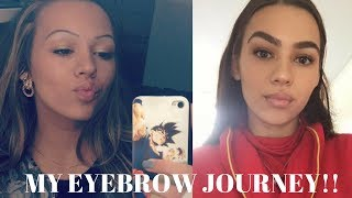 MY EYEBROW JOURNEY! How to grow your eyebrows