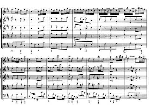 Bach:  Suite para orquesta nº 2 Badinerie. Partitura y Audición Flauta y orquesta barroca
