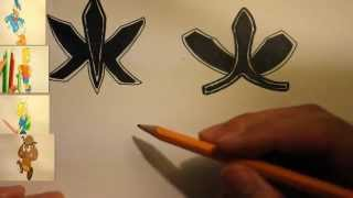 How To Draw The Power Rangers Samurai Symbols|Cool Symbols