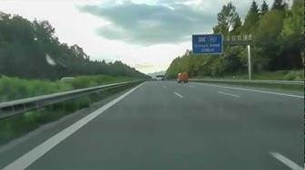 Driving Autobahn to Salzburg Austria