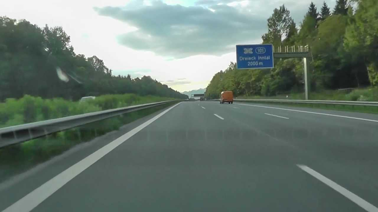 Driving Autobahn to Salzburg Austria - YouTube