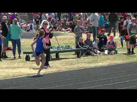 Track Meet at Columbia Falls -  Clips of Madelaine's races
