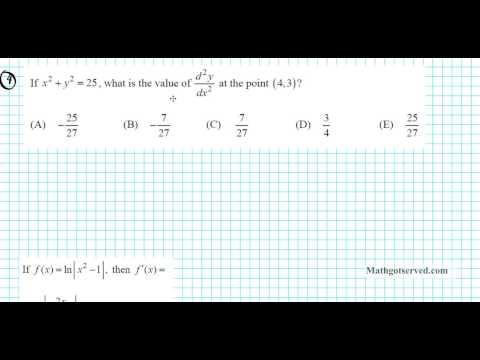 ap exam practice differentiation 1997 part I