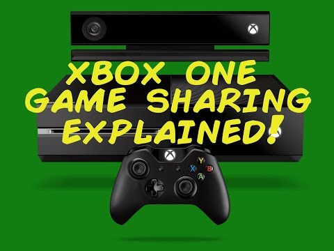 Xbox One My Home Xbox Digital Game Sharing Explained
