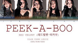 Red Velvet (레드벨벳 '피카부) Peek-A-Boo (피카부) | Color coded lyrics…