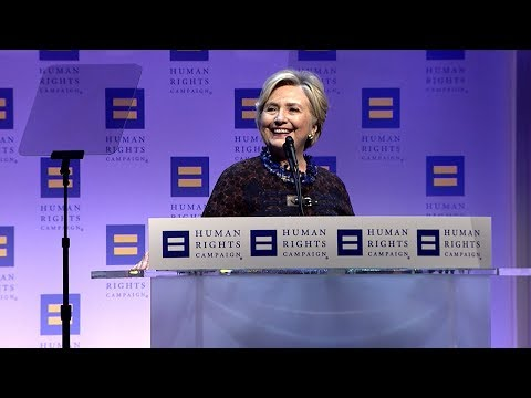 Hillary Clinton at the 2017 HRC National Dinner