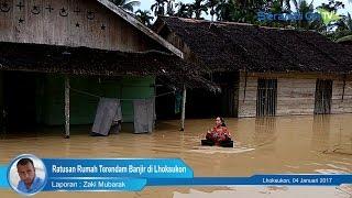 Ratusan Rumah Terendam Banjir Di Lhoksukon