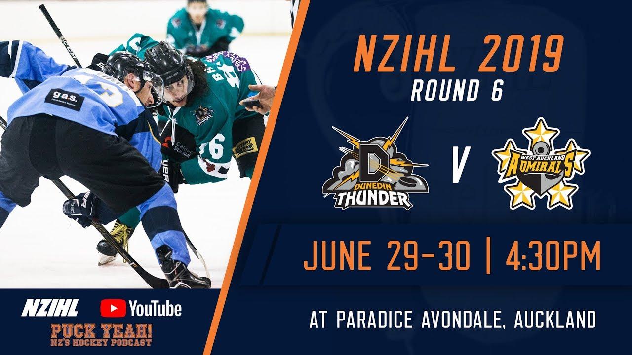 Nzihl 2019 Round 6 Dunedin Thunder V West Auckland Admirals