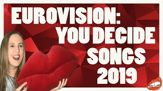 EUROVISION REACTION TO UNITED KINGDOM EUROVISION: YOU DECIDE SONGS 2019
