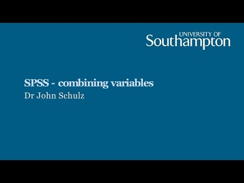 SPSS: Combining variables.