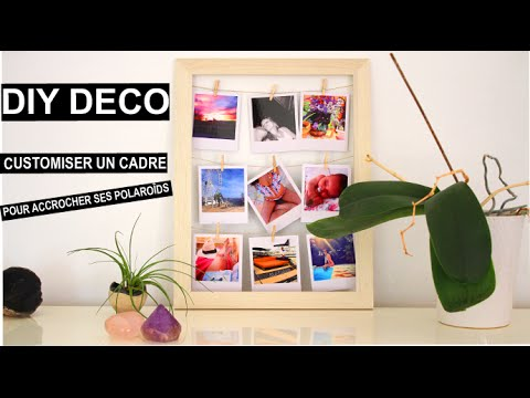 diy deco cadre pour accrocher ses photos polaroids frame display youtube. Black Bedroom Furniture Sets. Home Design Ideas