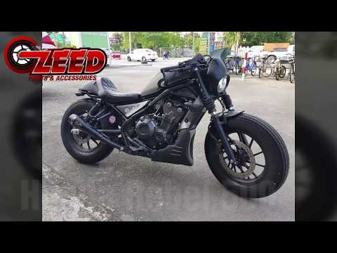 Honda Rebel CMX 500 Custom Diablo motozaa parts Exhaust review