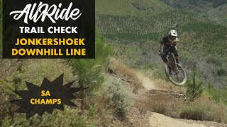JONKERSHOEK DOWNHILL TRACK // TRAIL CHECK // WC DOWNHILL ROUND 2 // SA CHAMPS