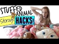 STUFFED ANIMAL STORAGE HACKS! | HOW TO ORGANIZE & STORE STUFFED ANIMALS!