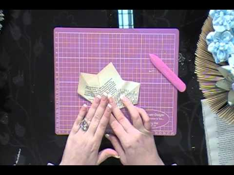 How To Make Paper Flowers To Decorate Your Book Folding Books Youtube