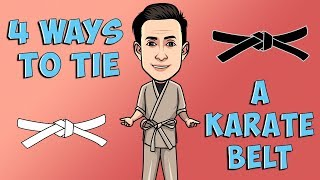 4 Ways to Tie a Karate Belt