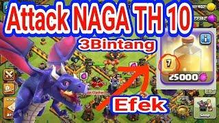 """Download Video Baru nih Di TH 10 """"NAGA Super Edian"""" ATTACK WAR TH10 Spell  jadi juru kuncinya MP3 3GP MP4"""