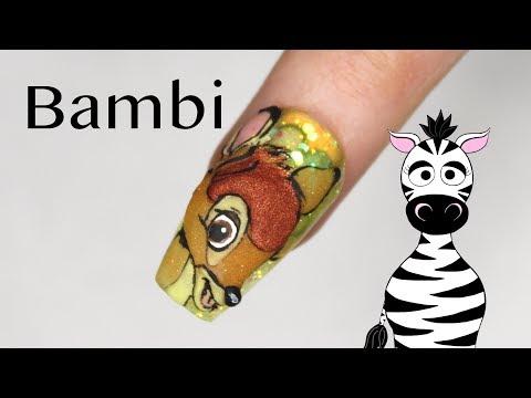 3D Bambi Acrylic Nail Art Tutorial thumbnail