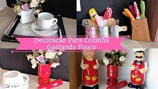 DIY: IDÉIAS DE DECORAÇÃO PARA COZINHA GASTANDO POUCO | Carla Oliveira
