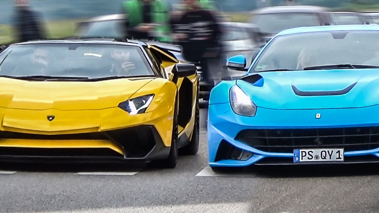 Lamborghini Vs Ferrari The Ultimate Sound Battle Youtube