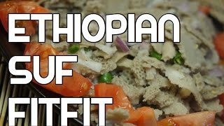Suf Fitfit Recipe - Ethiopian Amharic Vegan Injera Enjera suff Video