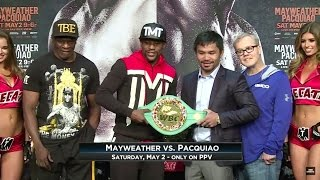 Mayweather and Pacquiao face-off once again, the last time before their weigh-in