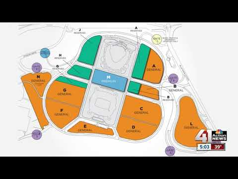 Parking at Kauffman Stadium for Opening Day