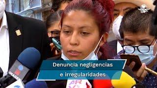 Marisol Tapia, madre de Brandon, víctima del accidente en la Línea 12, denunció una serie de negligencias e irregularidades en el caso de su hijo, desde la recuperación del cuerpo de su hijo, la cadena de custodia del cuerpo y la hora asentada en el acta de defunción, la cual fue colocada 20 minutos antes de que sucediera el accidente
