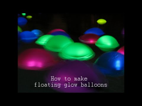 How To Make Floating Glow Balloons Youtube