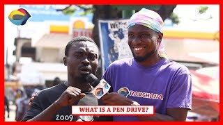 What is a PEN DRIVE? | Street Quiz | Funny African Videos | Funny Videos | African Comedy