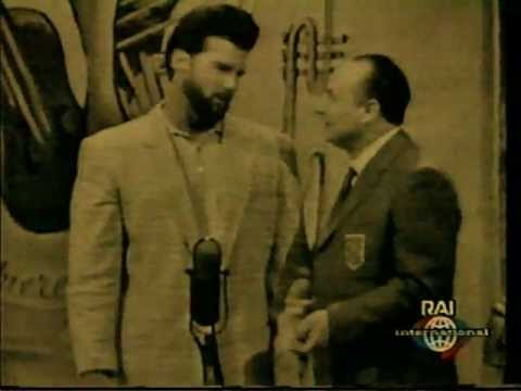 BODYBUILDER Steve Reeves on Late Nite Game show in Italy (+50 Years Ago)