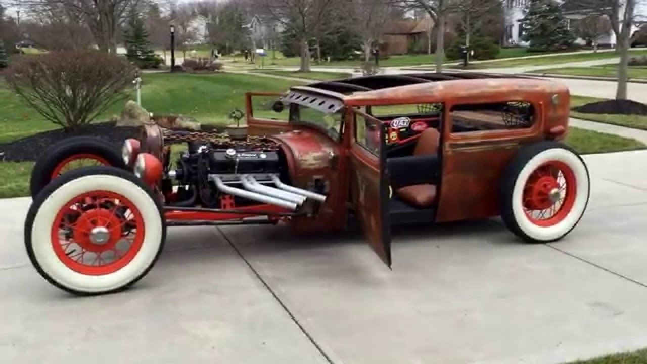 1929 ford model a rat rod youtube. Black Bedroom Furniture Sets. Home Design Ideas