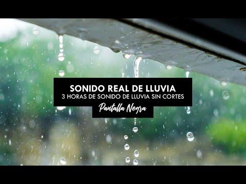 SONIDO DE LLUVIA PARA DORMIR, Sonido de la LLUVIA y TRUENOS - FONDO NEGRO PARA DORMIR y Relajarse