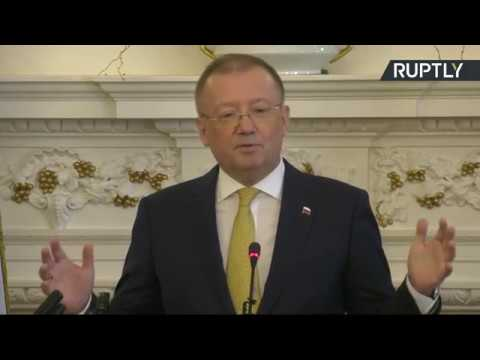LIVE: Russian Ambassador to UK Alexander Yakovenko holds press conference in London