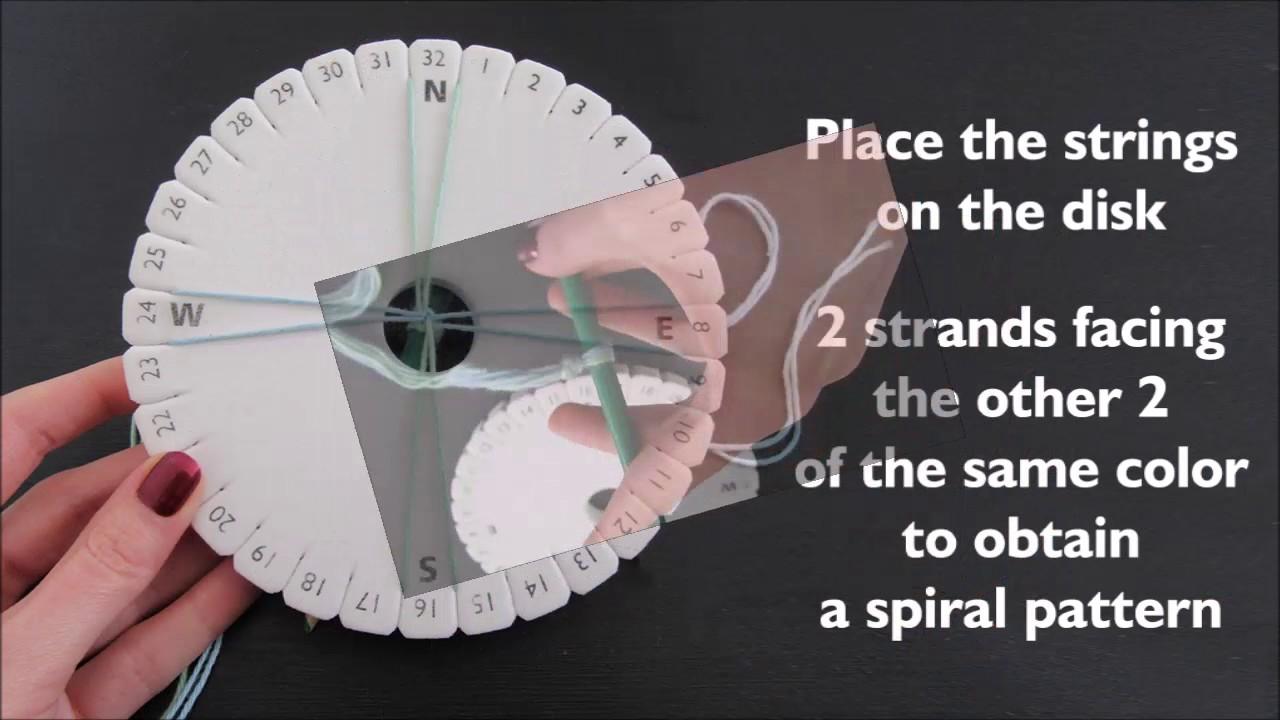 Kumihimo Basics: 4 strands braid - spiral pattern - YouTube