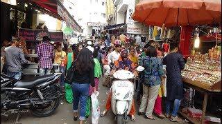 "Walking through ""Chauta Bazaar"" - A Very Busy Ladies Street Market in Surat, Gujarat, India."
