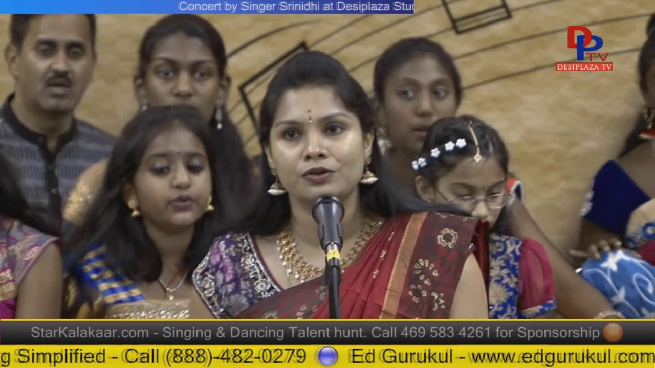 Part.10 Srinidhi & her students giving Carniatic music concert at Desiplaza studio,Irving,Texas