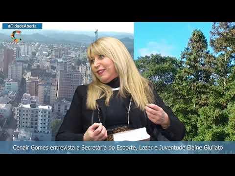 Cenair Gomes entrevista a Secretária do Esporte Lazer e Juventude Elaine Giuliato